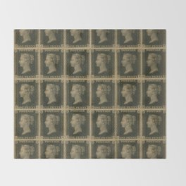 Penny Black Postage Throw Blanket