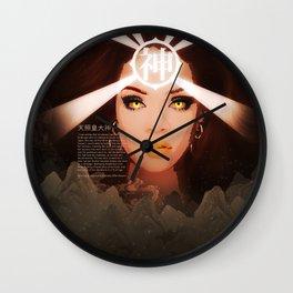 Rihanna as Japanese Deity Triptych (Amaterasu) Wall Clock