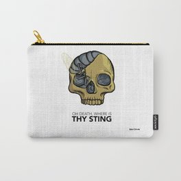 #1 Oh Death, Where Is Thy Sting Carry-All Pouch