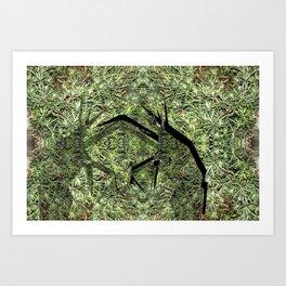Grass Hoppers Art Print