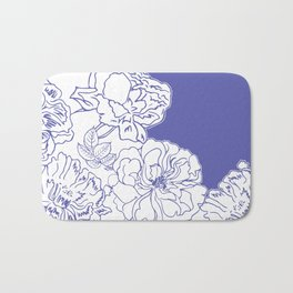 FLORAL IN BLUE Bath Mat