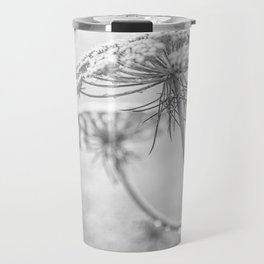 Queen Anne's Lace in Black and White Travel Mug