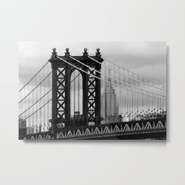 new york city ... manhattan bridge trilogy III Metal Print