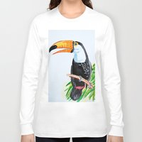 toucan Long Sleeve T-shirts featuring Toucan by The Traveling Catburys