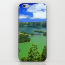 Lakes in Azores islands iPhone Skin