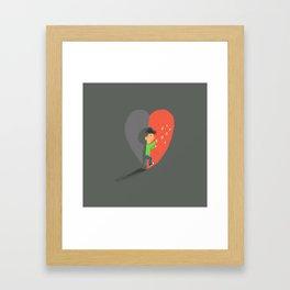 Boy in Love #4 Framed Art Print