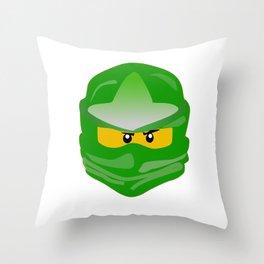 Ninjago face Lloyd  Throw Pillow