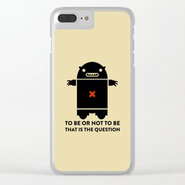 To be or not to be_yellow Clear iPhone Case