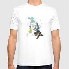 Marlena Shaw White SMALL Mens Fitted Tee