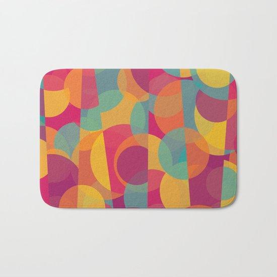 Abstract Circle Pattern - Colorful Dream Bath Mat