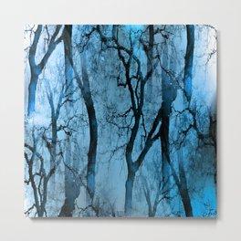 Glamour Trees (winter sky dark) Metal Print