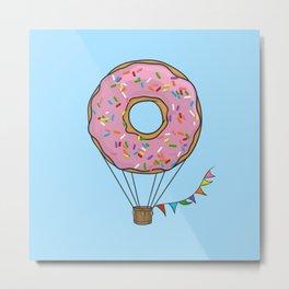 Donut Hot Air Balloon Metal Print