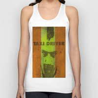 taxi driver Tank Tops featuring Taxi Driver by Ganech joe