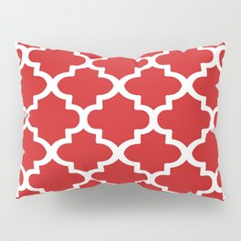Arabesque Architecture Pattern In Red Pillow Sham