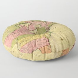 Map of North America by Kitchin, Mitchell and Millar (1755) Floor Pillow