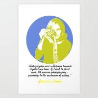 jessica lange Art Prints featuring Jessica Lange by BeeJL