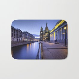 Saint Petersburg at Night Bath Mat