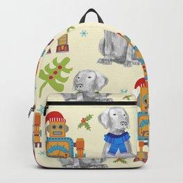 WEIMARANER AND THE ROBOT Backpack