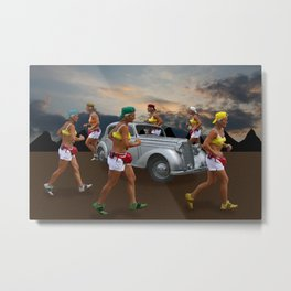 Amazons worshiping the Holy Cow Metal Print