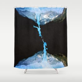 The Endless In-Between Shower Curtain