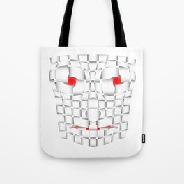 frightening mask Tote Bag