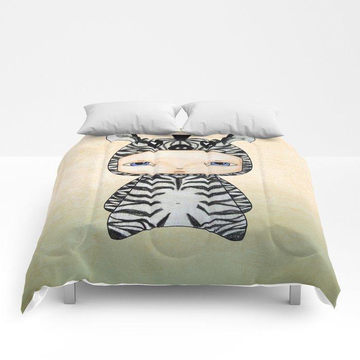 A Boy - Zebra Comforters