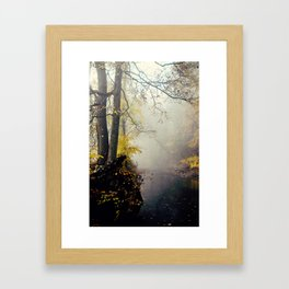 autumn mist Framed Art Print