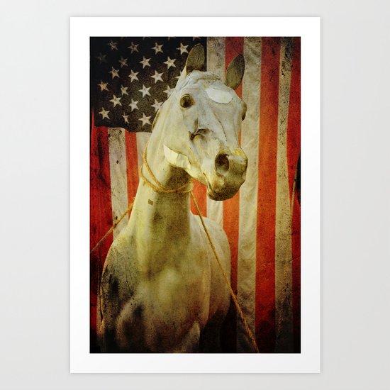 Portrait of an American Horse Art Print