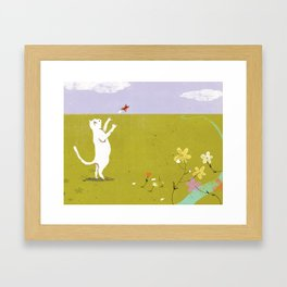 First, I'll Catch This Butterfly Framed Art Print