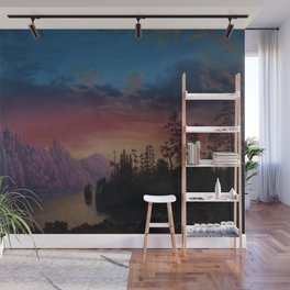 Sunset in California landscape painting by Gilbert Munger Wall Mural