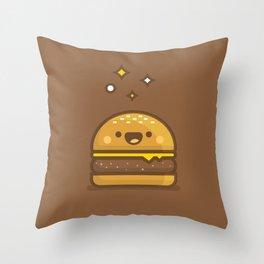 Golden Cheeseburger Throw Pillow