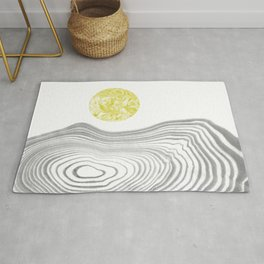 Tomo - spilled ink abstract modern swirl marble painting paint marbling japanese watercolor art Rug
