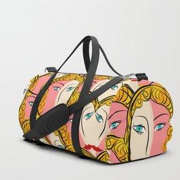 Comics Pop Girl Pattern Duffle Bag