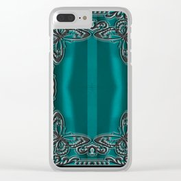 LACE OCEAN Clear iPhone Case