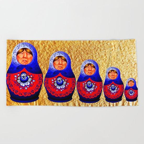 Trampbushka   Funny   Comedy Beach Towel