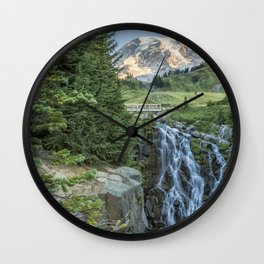 Early Morning at Myrtle Falls Wall Clock