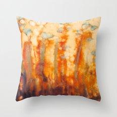 Fire Lillies Throw Pillow