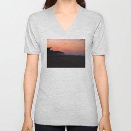 Peach Skies Unisex V-Neck