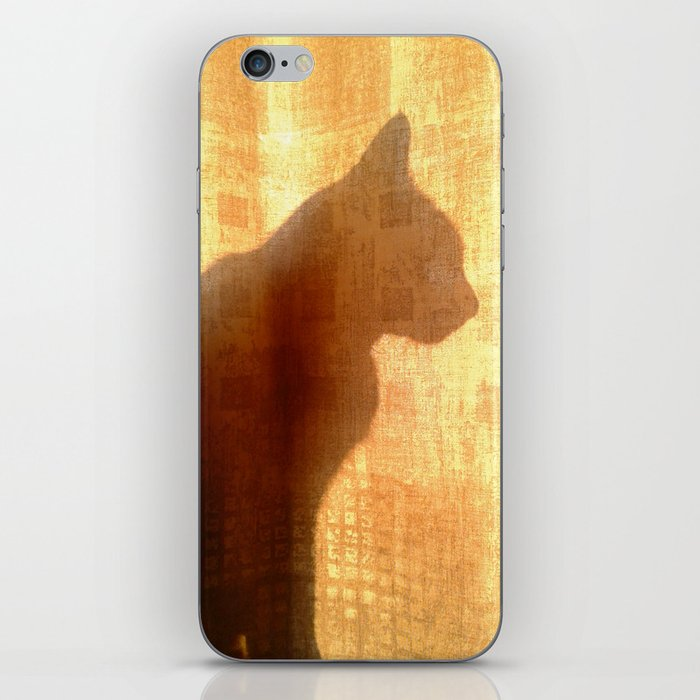 Cat silhouette iPhone Skin