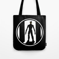 groot Tote Bags featuring Groot by Comix
