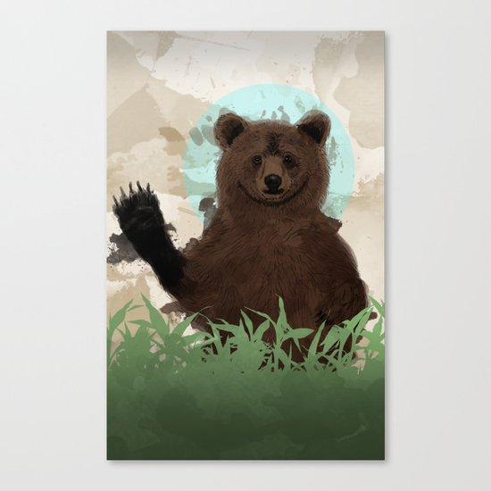 Hello Bear Canvas Print