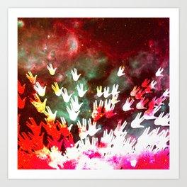 H.E.L.L.O. / red Art Print