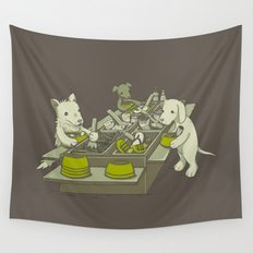 Dog Buffet Wall Tapestry