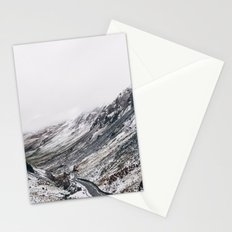 Honister Pass covered in snow. Cumbria, UK. Stationery Cards