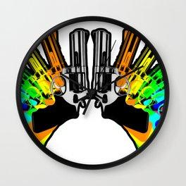 Rainbow Revolver Wall Clock