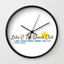 Lake O' The Woods Wall Clock