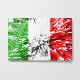 Extruded Flag of Italy Metal Print