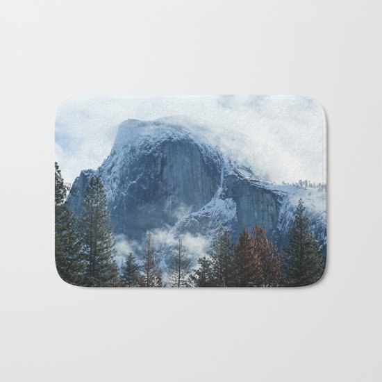 Ice-capped Half Dome at Sunrise | Yosemite National Park, California Bath Mat
