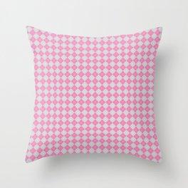 Argyle Pattern| Scottish Patterns | Pink and Grey | Throw Pillow