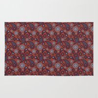 paisley Area & Throw Rugs featuring Paisley by Lisi Fkz